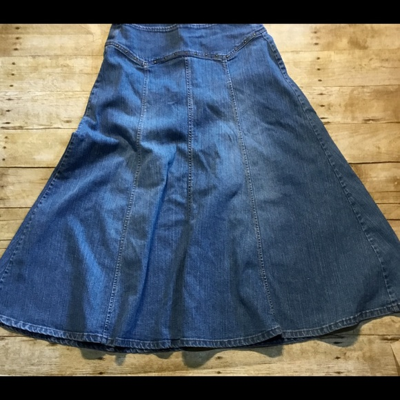 9a9d0fc740 kikit Dresses & Skirts - Long denim jean skirt modest no slit size 6 Kikit